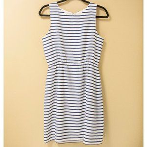 J. Crew Factory Striped Fit and Flare Dress